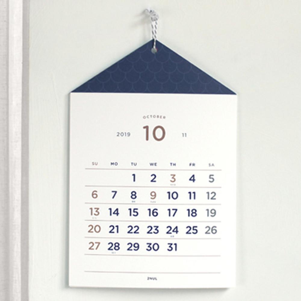 2NUL 2019 House monthly wall calendar