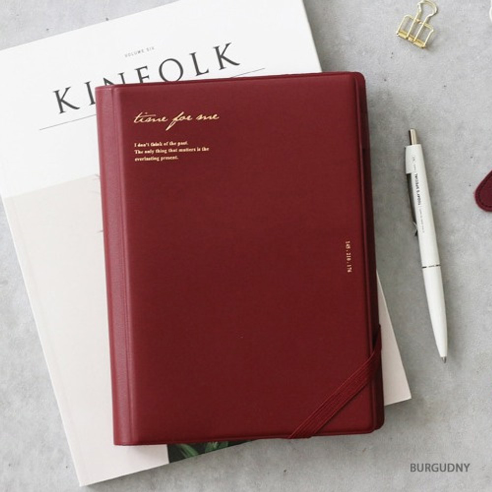 Burgundy - Time for me undated weekly diary planner