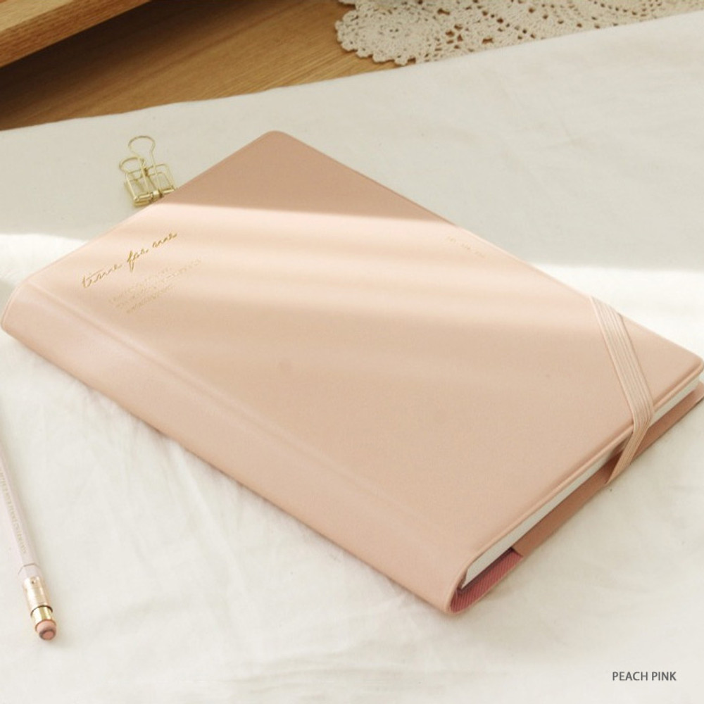 Peach pink - Time for me undated weekly diary planner