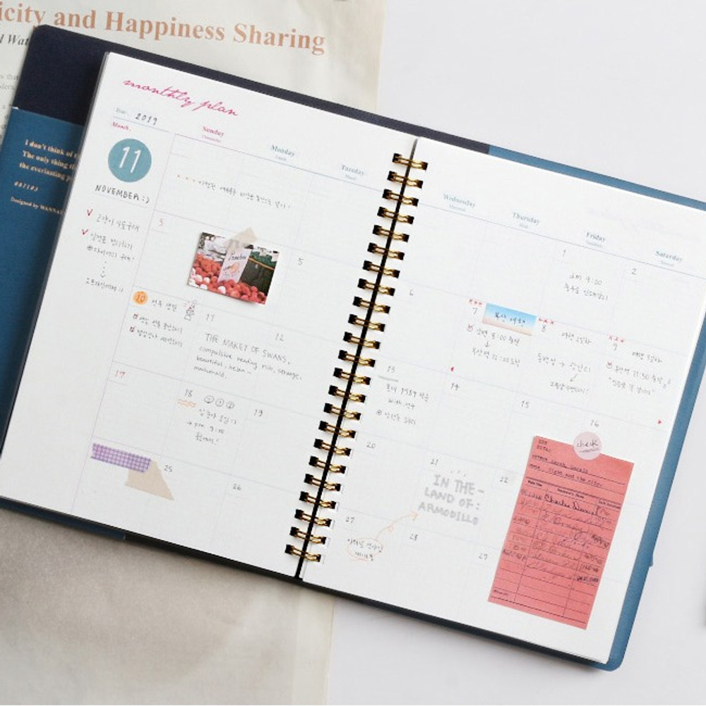 Monthly plan - Wanna This Time for me undated weekly diary planner