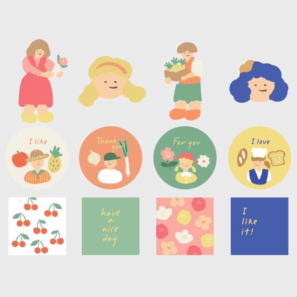 Le Petit Marche polypropylene film sticker set