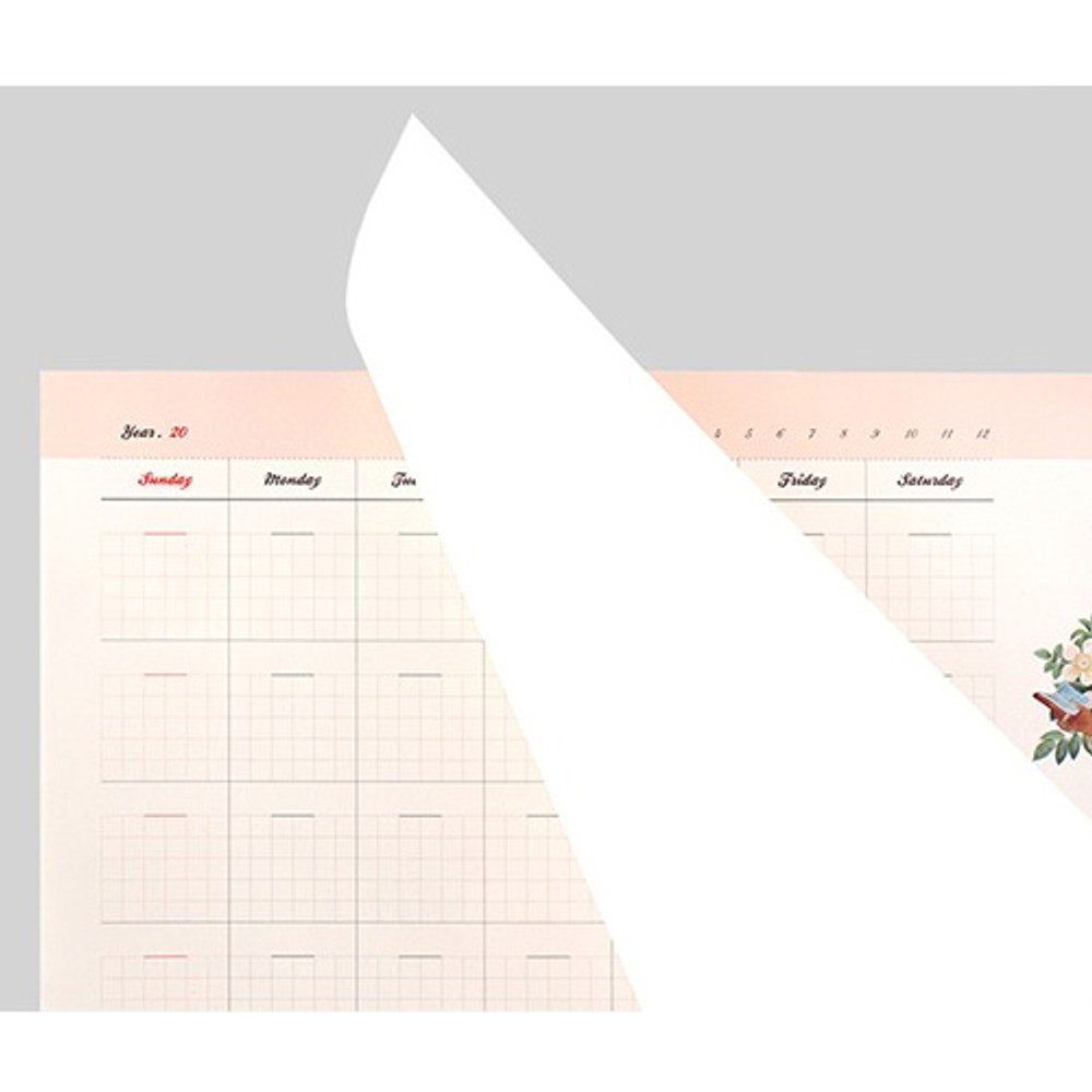 Easy tear out -  Reading dateless monthly desk scheduler pad