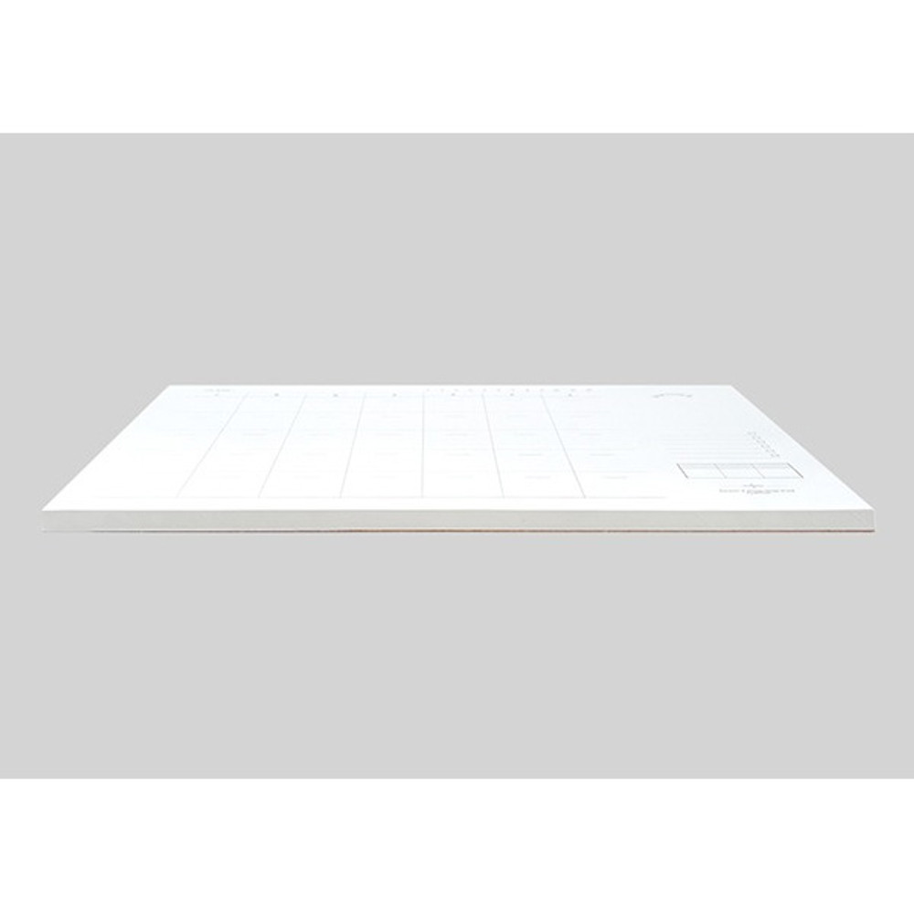 120gsm paper - Plain undated monthly desk scheduler pad