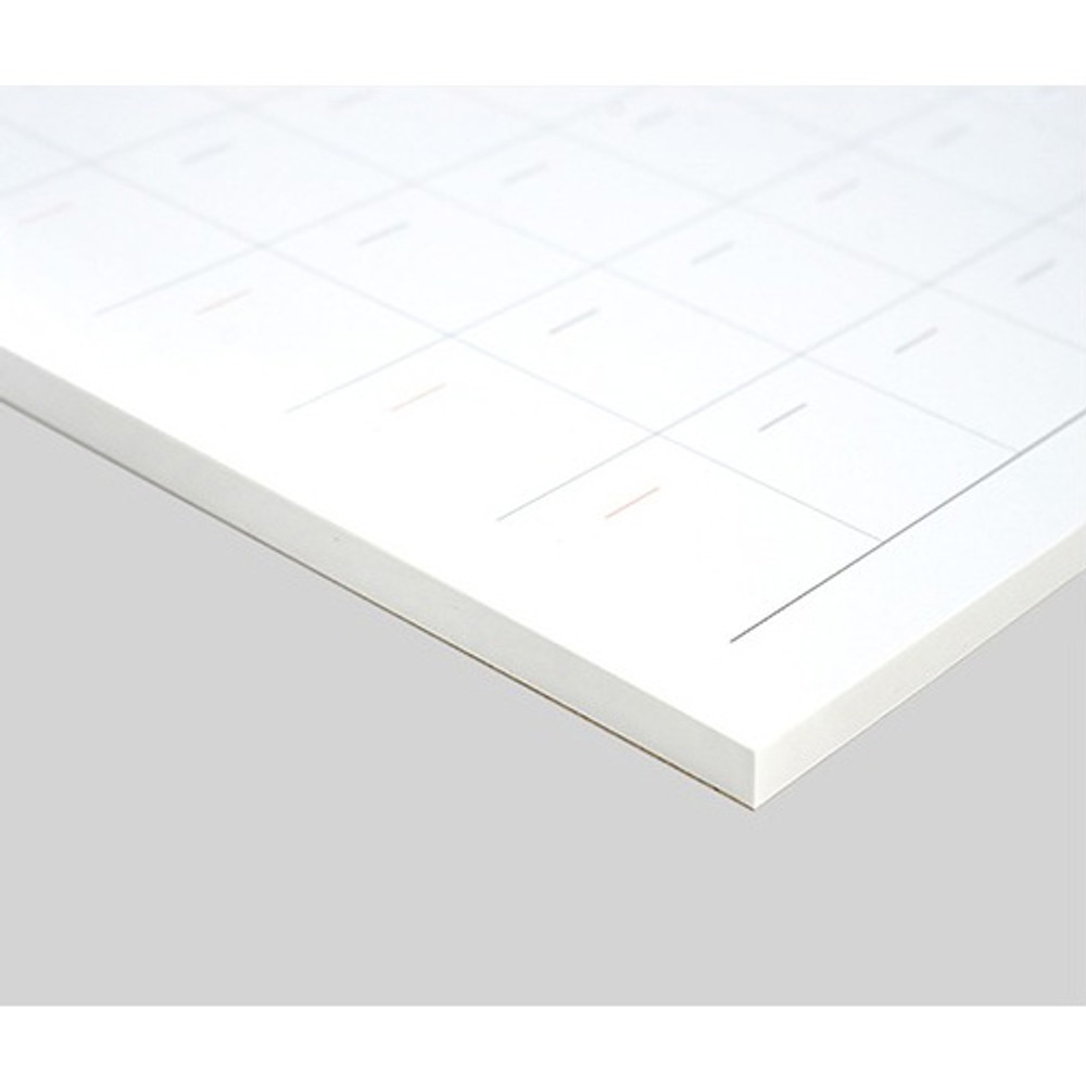 53 sheets - Plain undated monthly desk scheduler pad