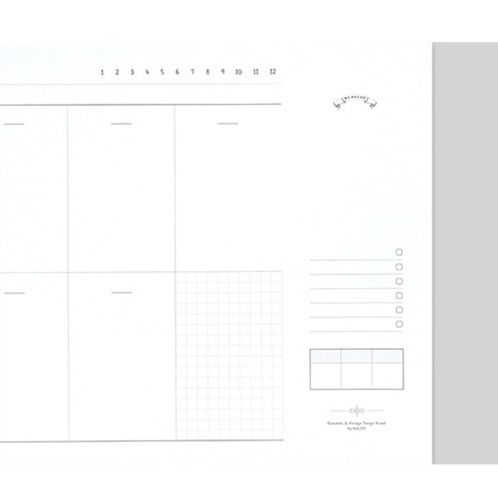 Weekly checklist - Plain dateless weekly desk planner pad