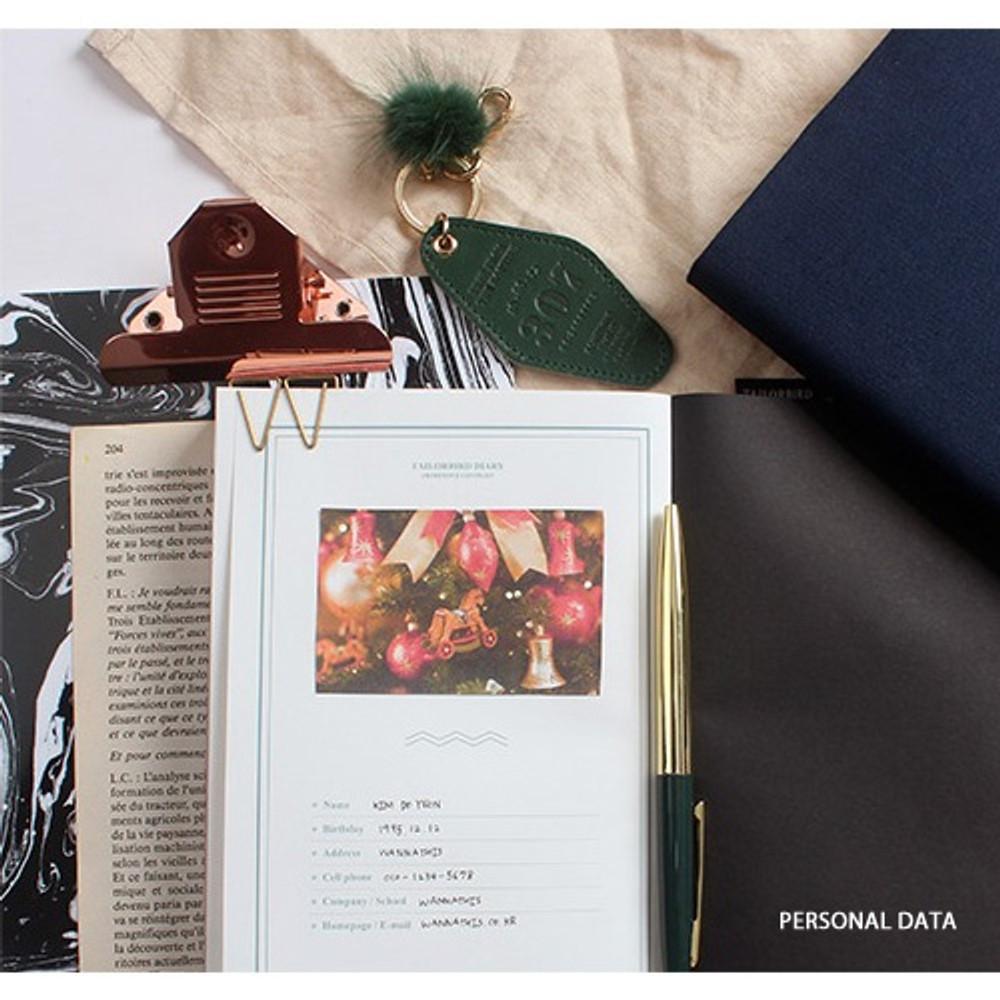 Personal data - Tailorbird pattern dateless weekly planner