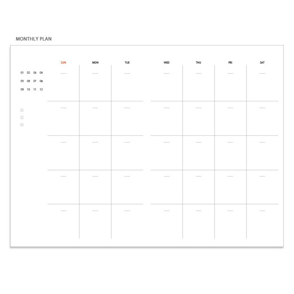 Monthly plan - Pour vous fruit undated weekly diary planner