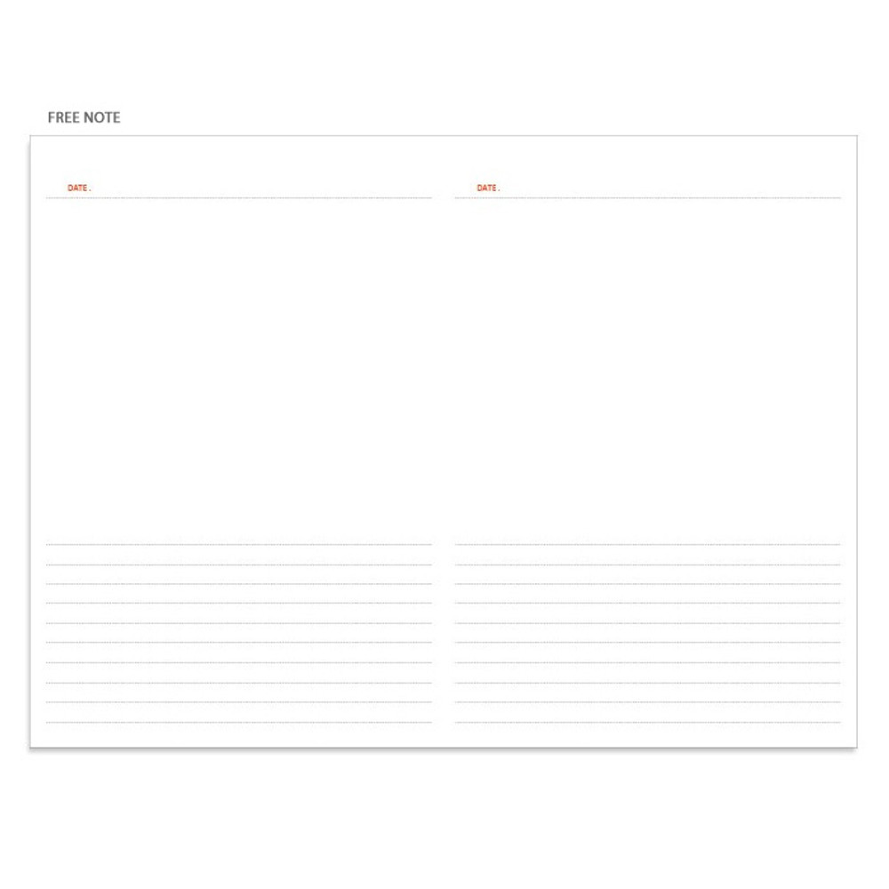 Free note - Pour vous fruit undated weekly diary planner