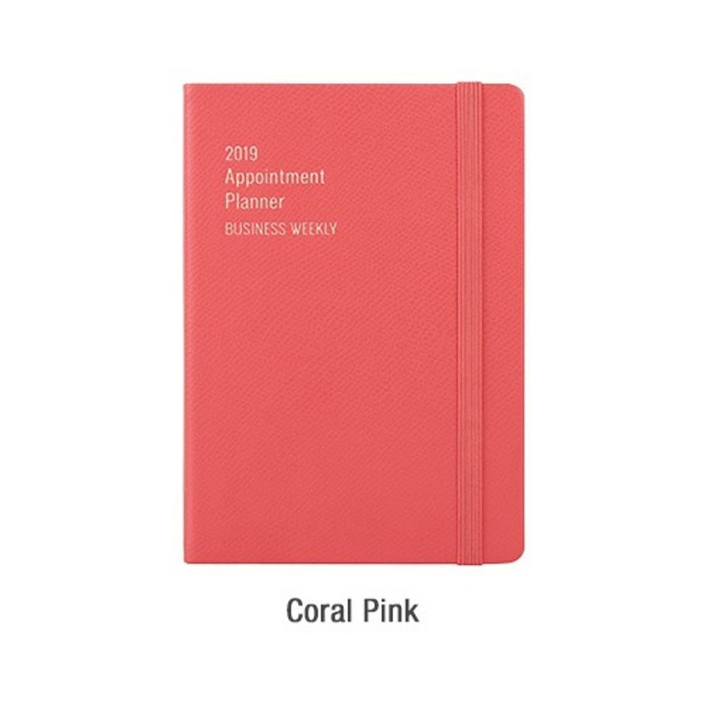 Coral pink - 2019 Appointment B6 business dated weekly scheduler