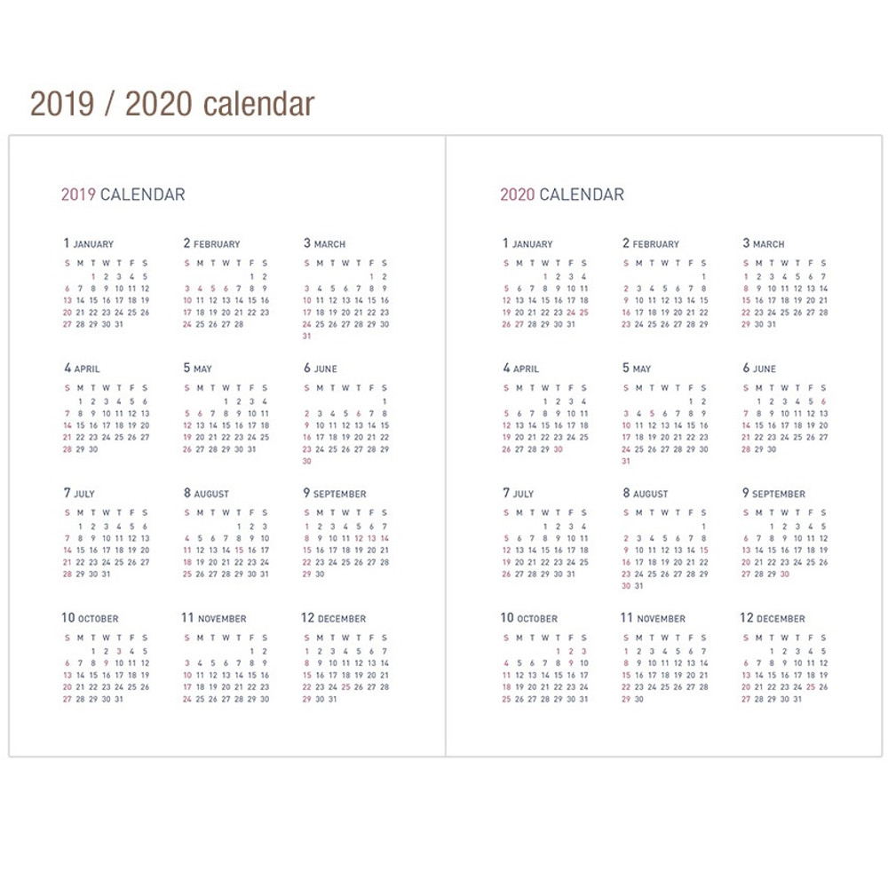 Calendar - 2019 Appointment B6 business dated weekly scheduler