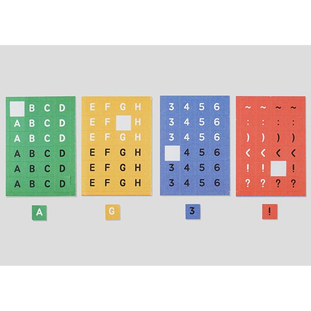 NACOO ABC alphabet crayon sticker set