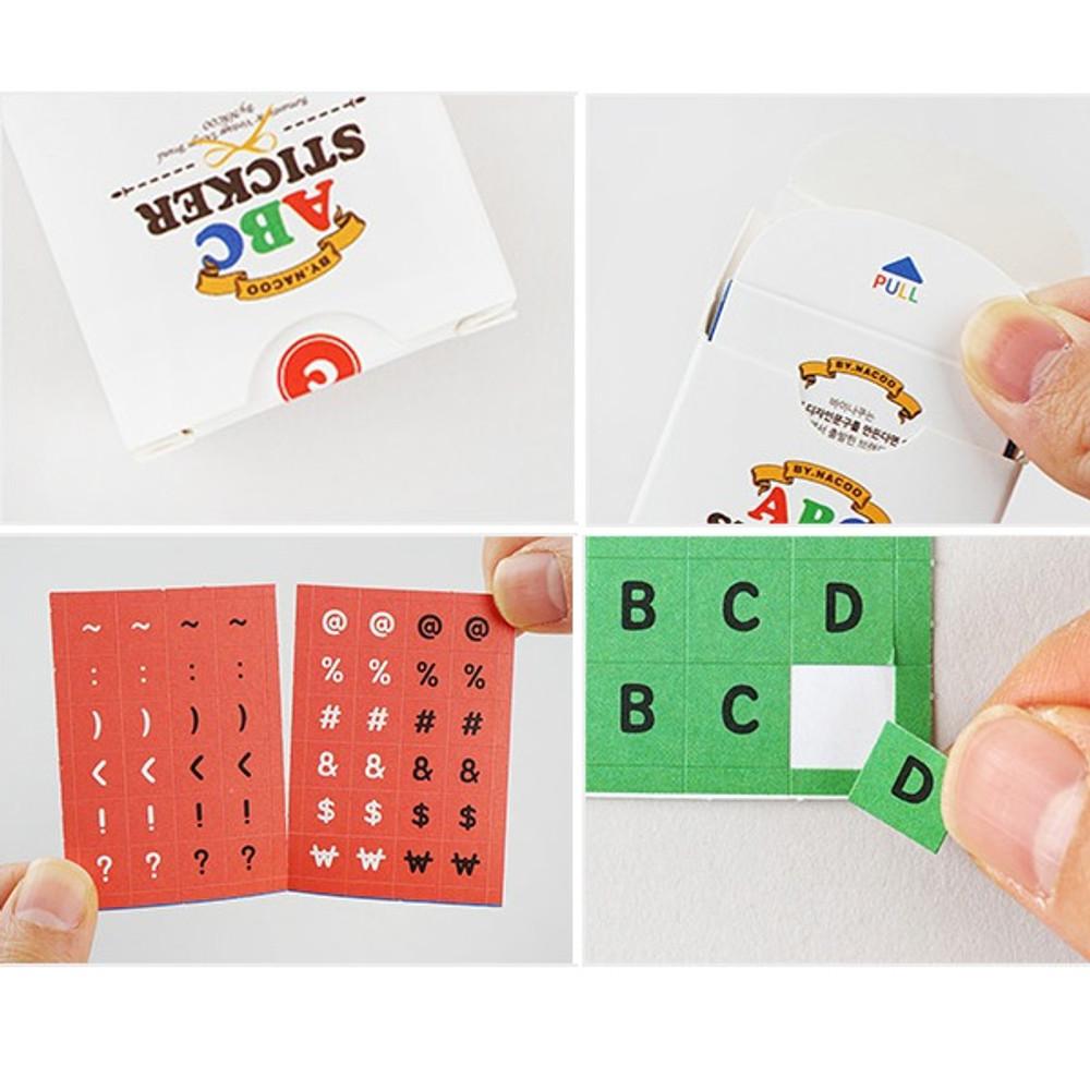 ABC alphabet crayon sticker set