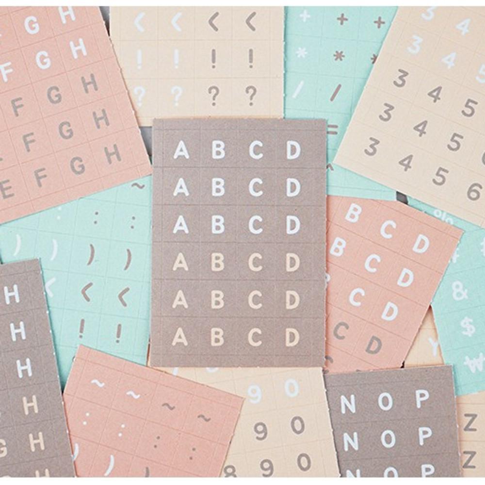 NACOO ABC alphabet pastel sticker set