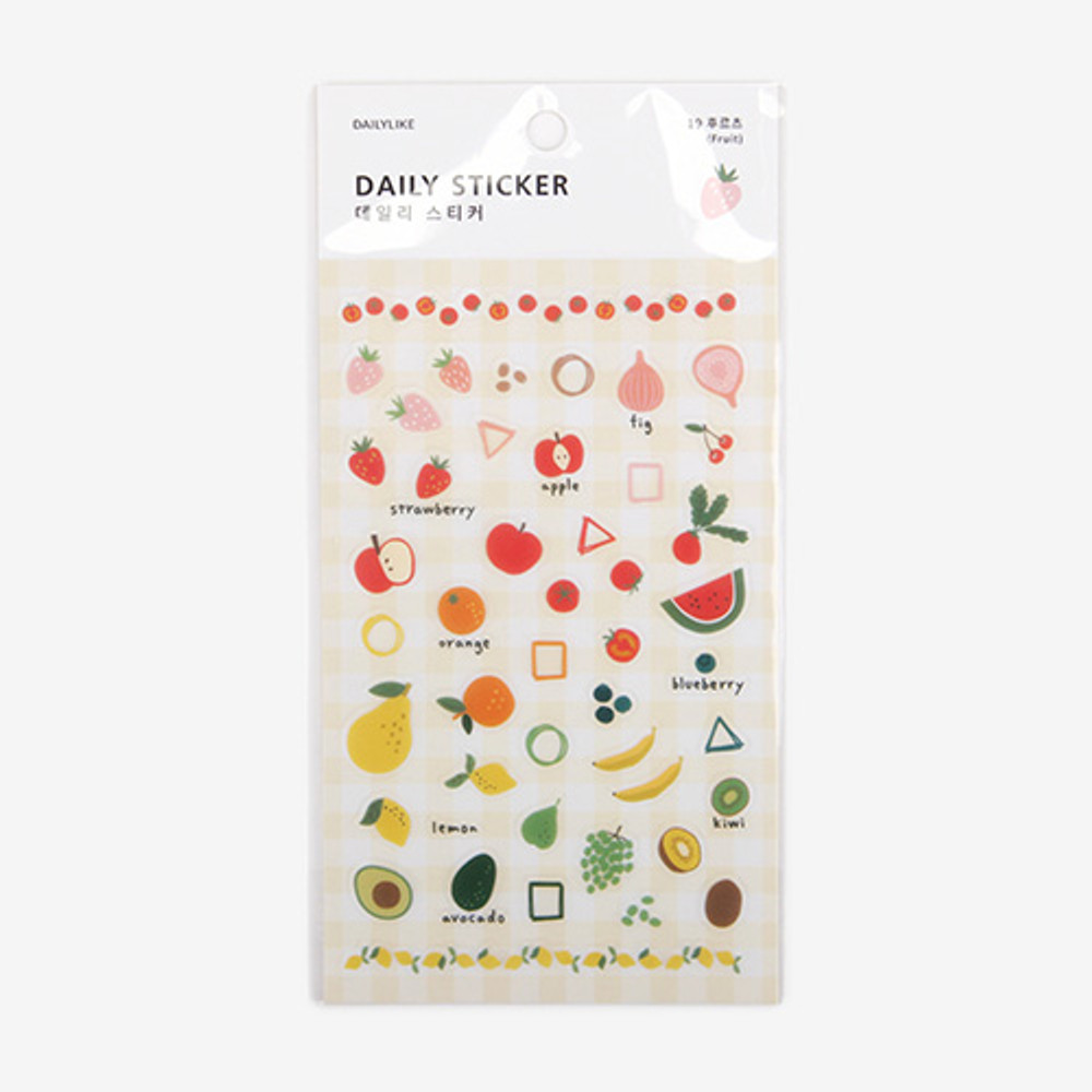 Package for Daily transparent sticker - Fruits