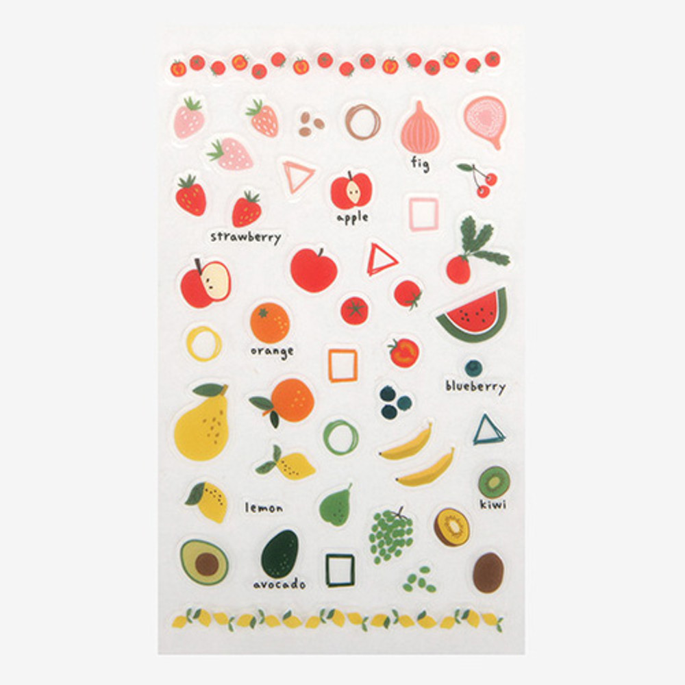Daily transparent sticker - Fruits