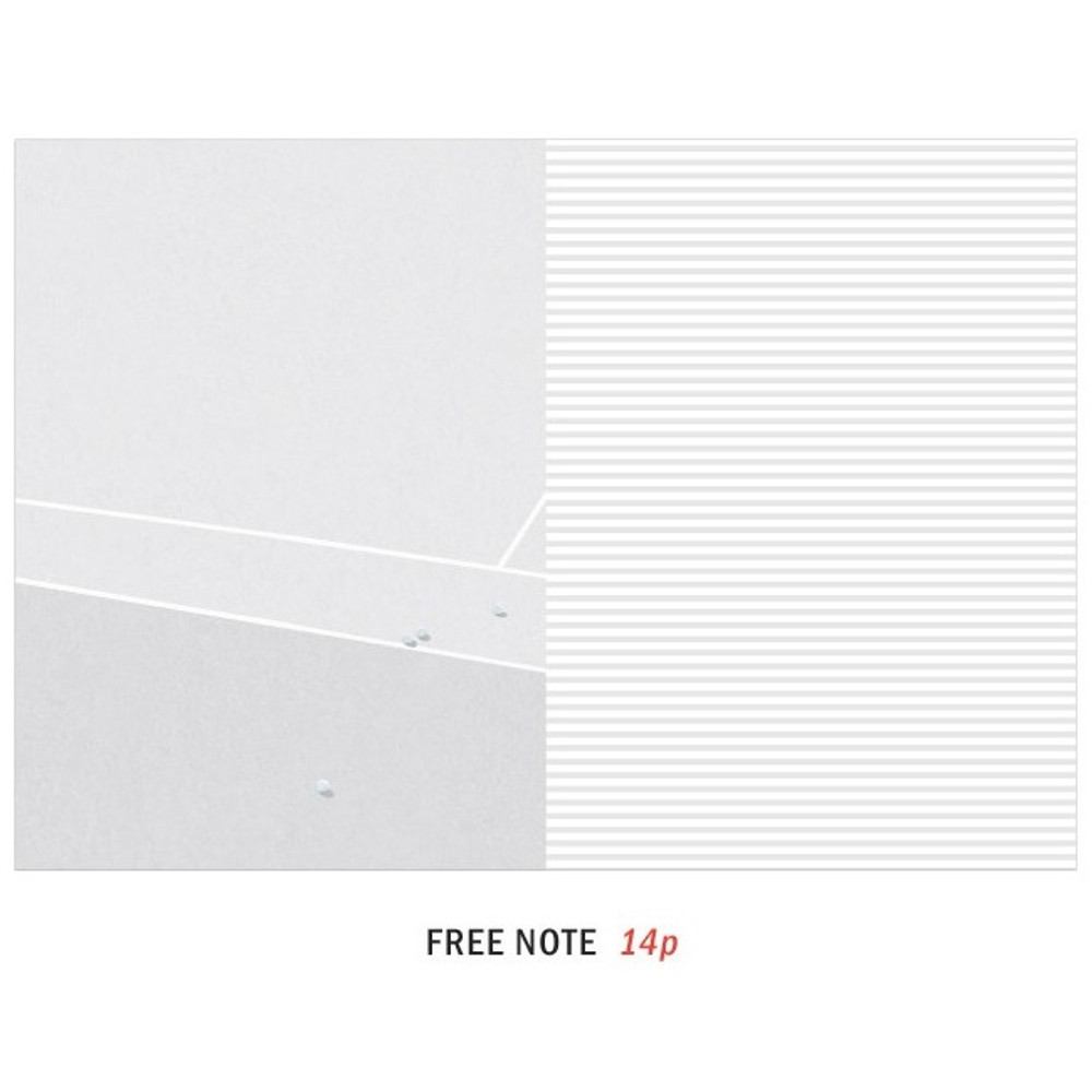 Free note - ICONIC Mini A6 size cash book planner