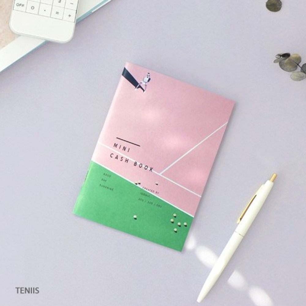 Tennis - ICONIC Mini A6 size cash book planner