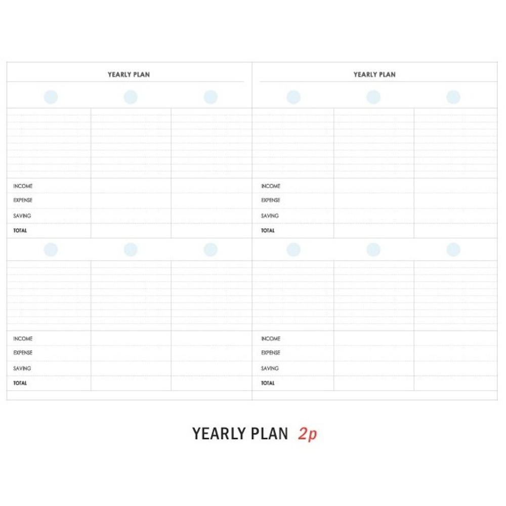Yearly plan - ICONIC Mini A6 size cash book planner