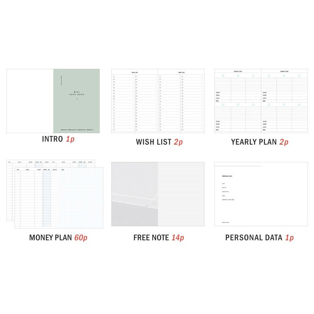 Composition - ICONIC Mini A6 size cash book planner