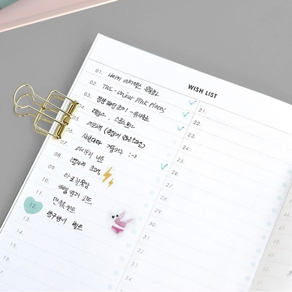 Wish list - ICONIC Mini A6 size cash book planner