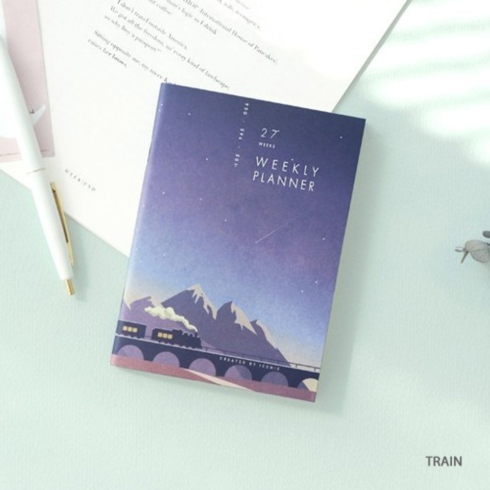 Train - 27 Weeks A6 size undated weekly planner