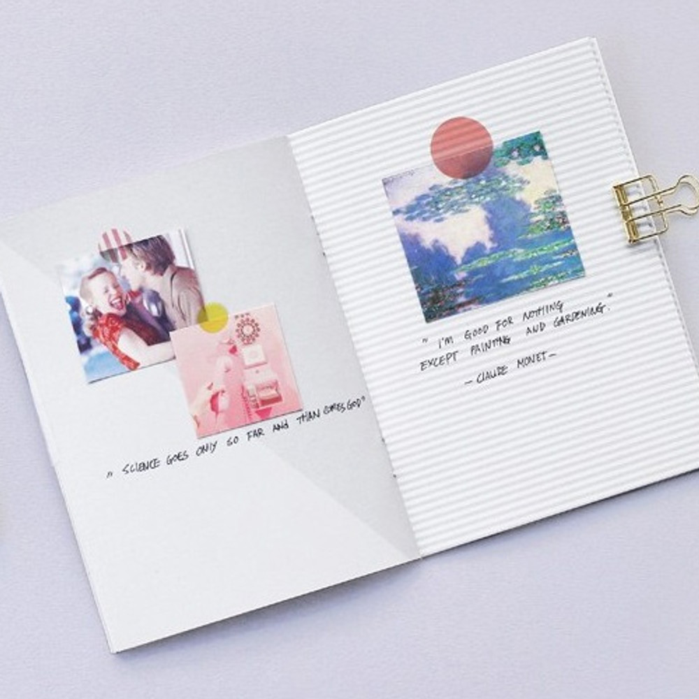 Free note - 12 Months A6 size undated monthly scheduler