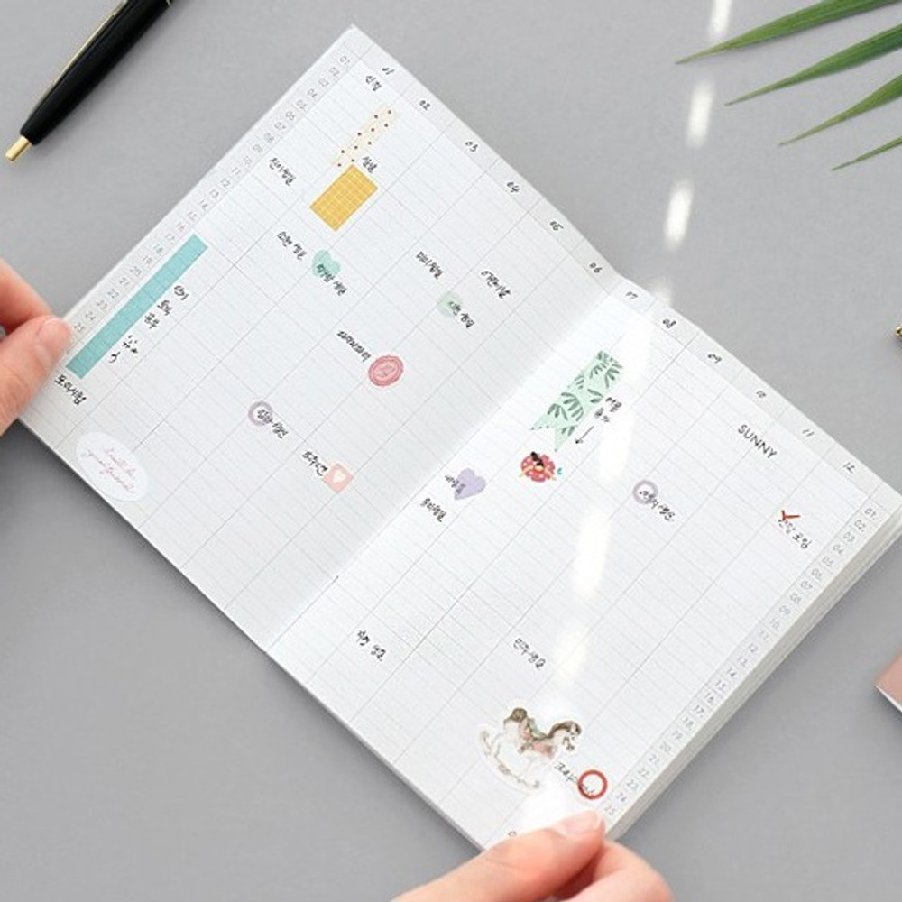 Yearly plan - 12 Months A6 size undated monthly scheduler