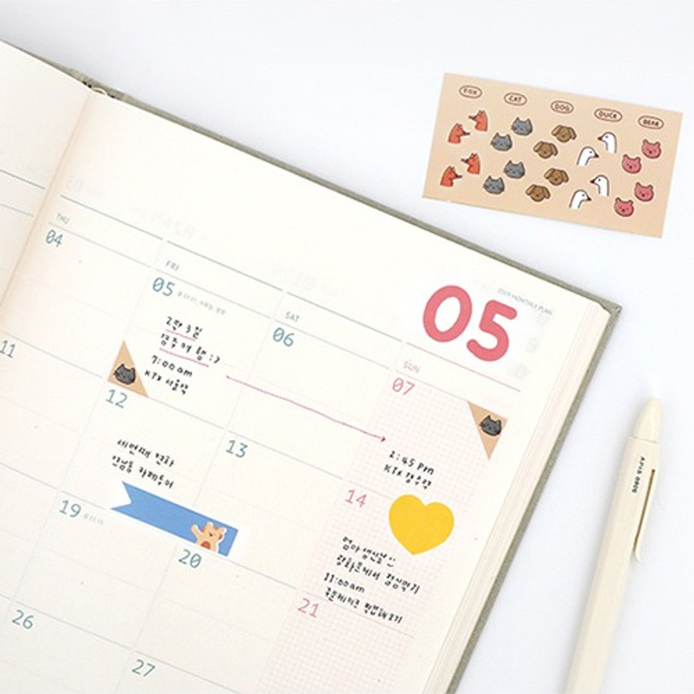 Example of use - ROMANE My rolly decoration sticker pack