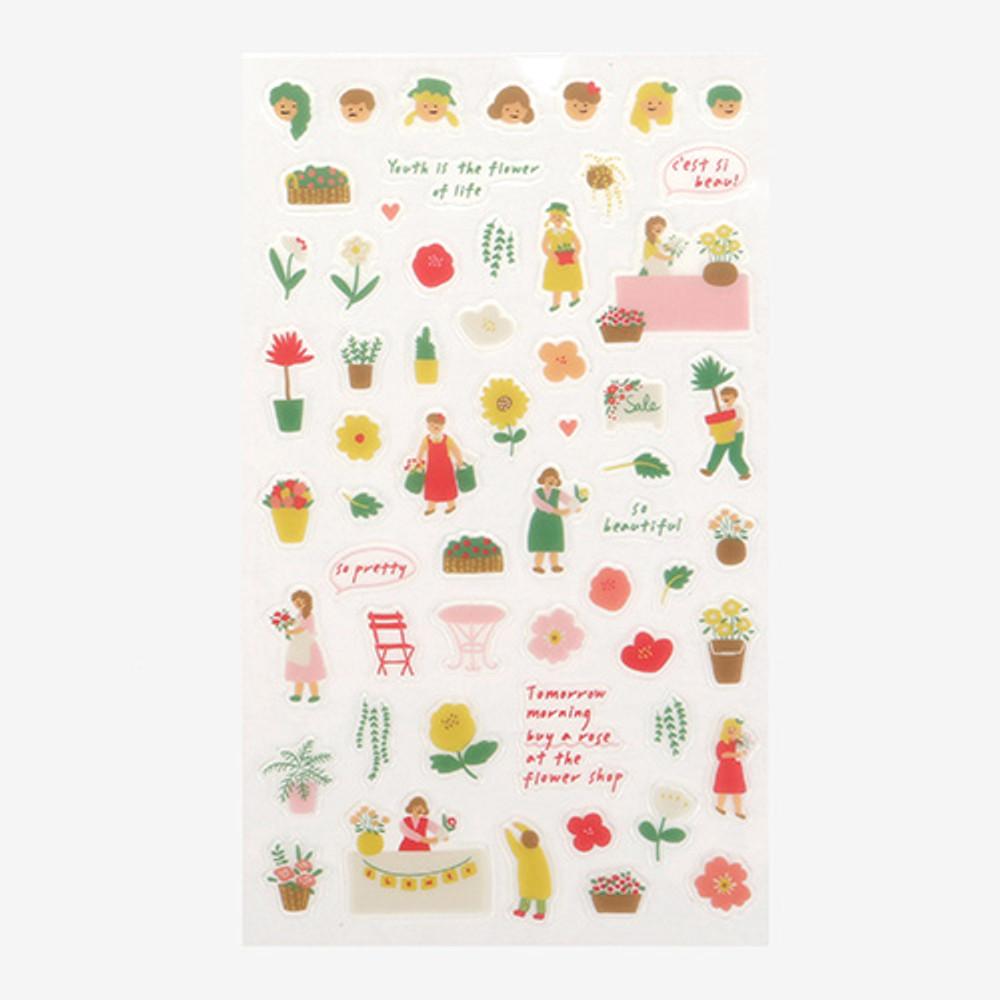 Daily transparent sticker - Flower shop