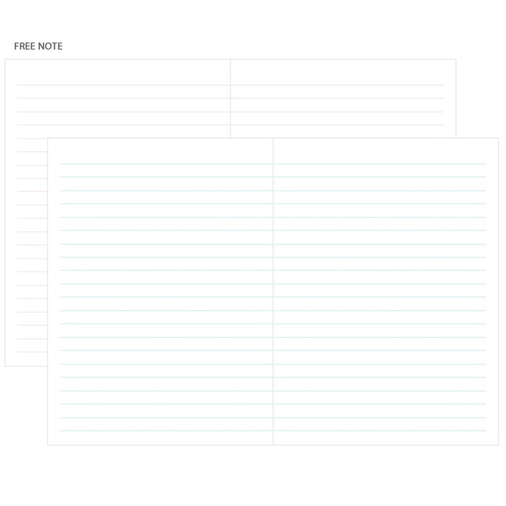 Free note - 3AL Hello 2019 small dated weekly agenda scheduler