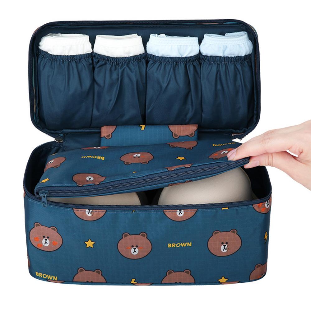 Detachable pouch - Line friends travel underwear pouch organizer