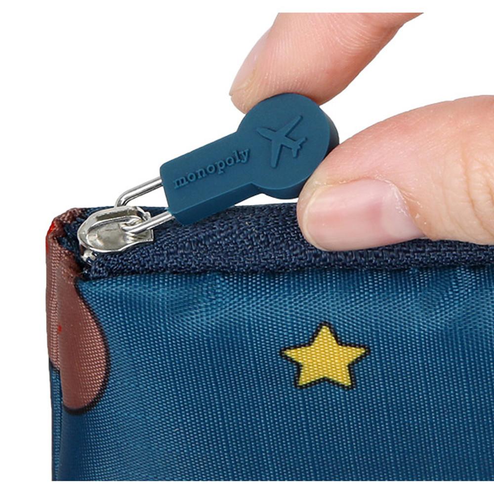 Rubber zipper slider - Line friends half zip around large cable pouch (2018)
