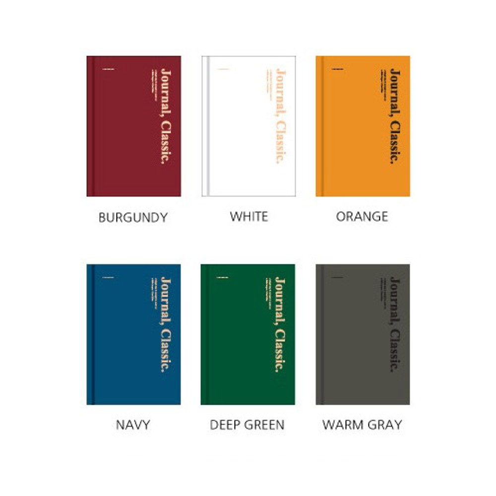 Color - Wanna This Classic journal dateless daily agenda diary