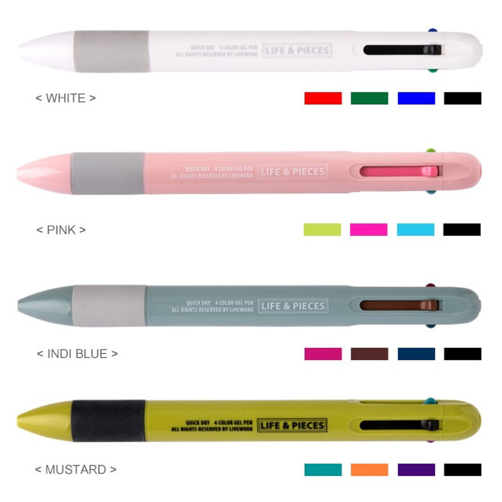 Color - Livework Life and pieces 4-in-1 multi gel pen 0.4 mm
