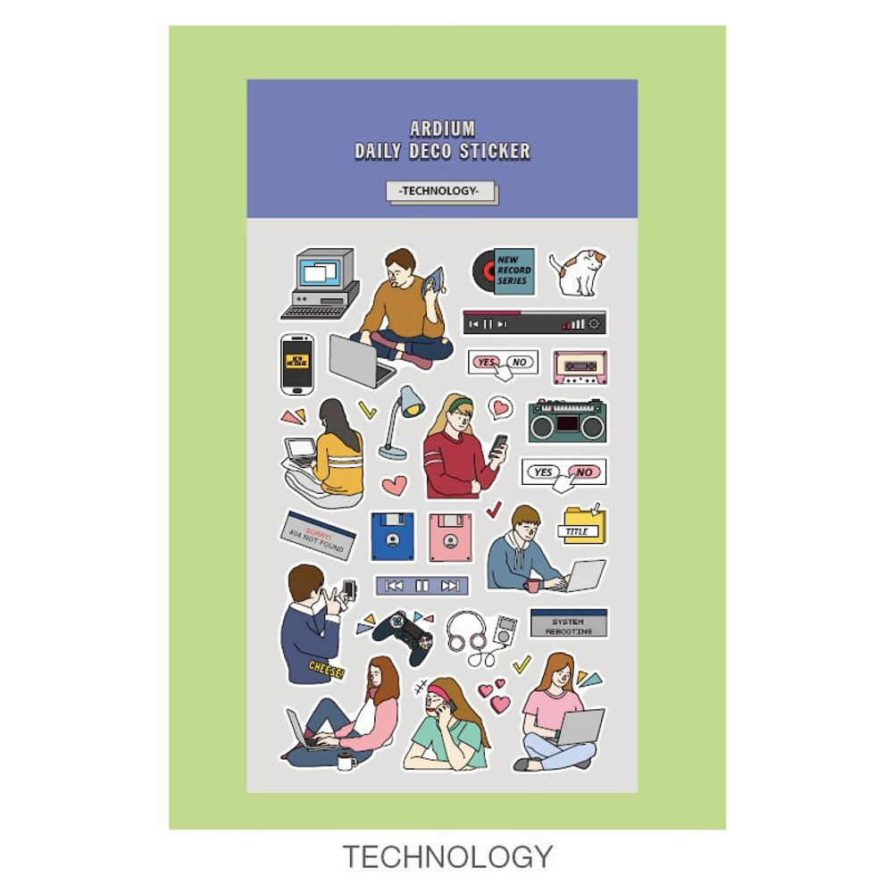 Technology - Ardium Daily colorful illustration deco paper sticker