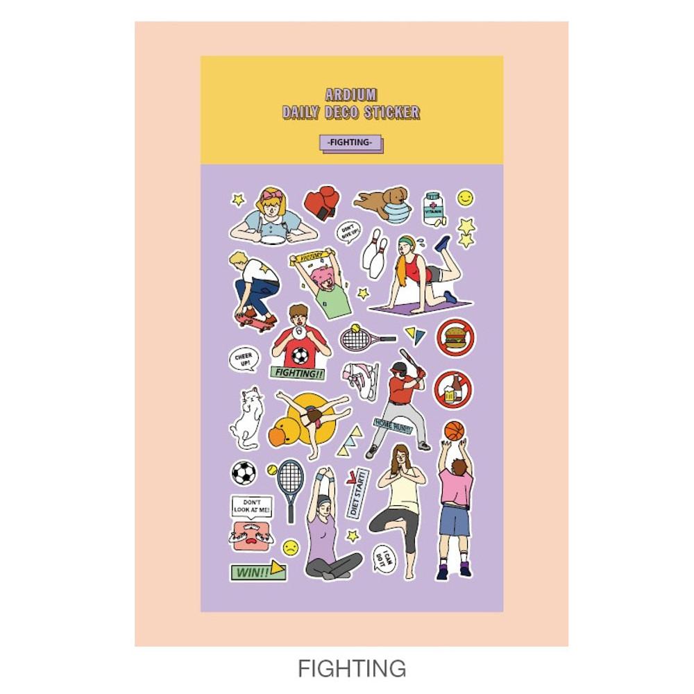 Fighting - Ardium Daily colorful illustration deco paper sticker
