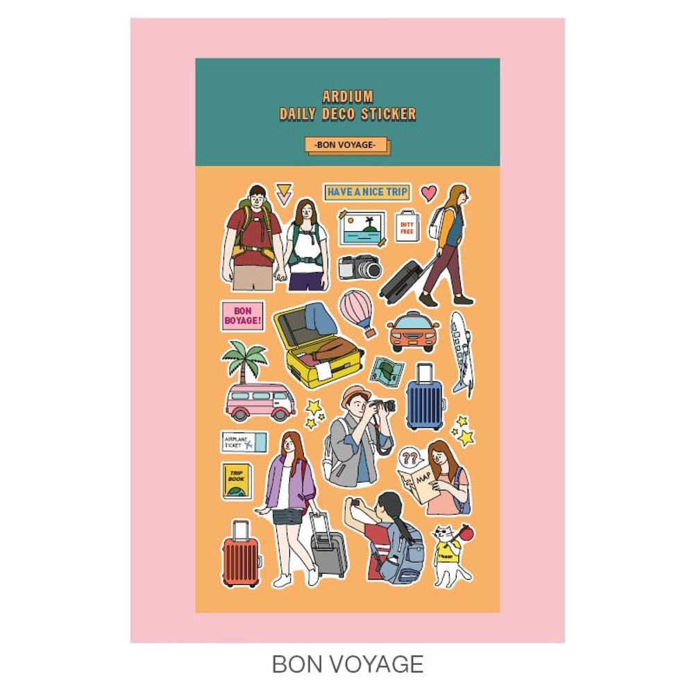 Bon voyage - Ardium Daily colorful illustration deco paper sticker