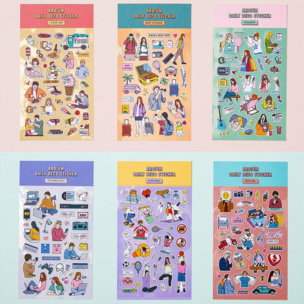 Ardium Daily colorful illustration deco paper sticker