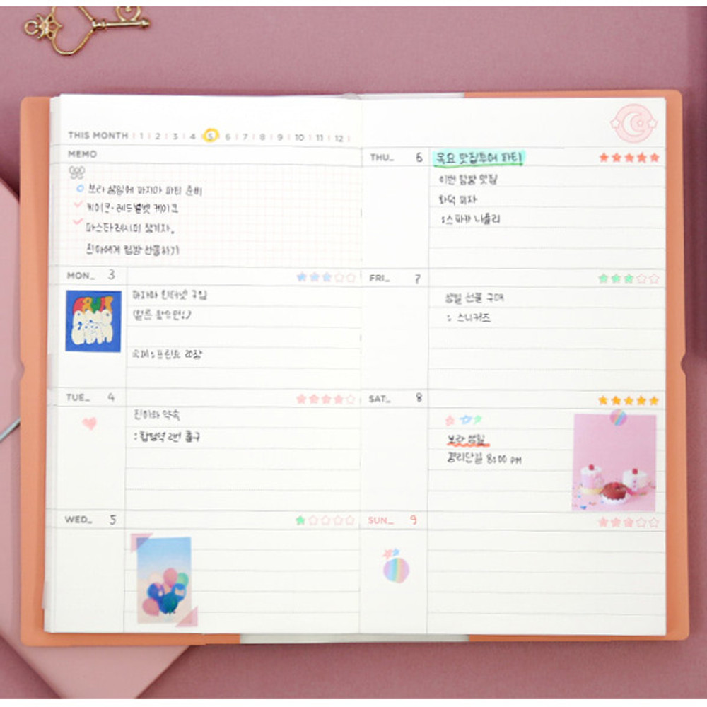 Weekly plan - Dear moonlight dateless weekly diary