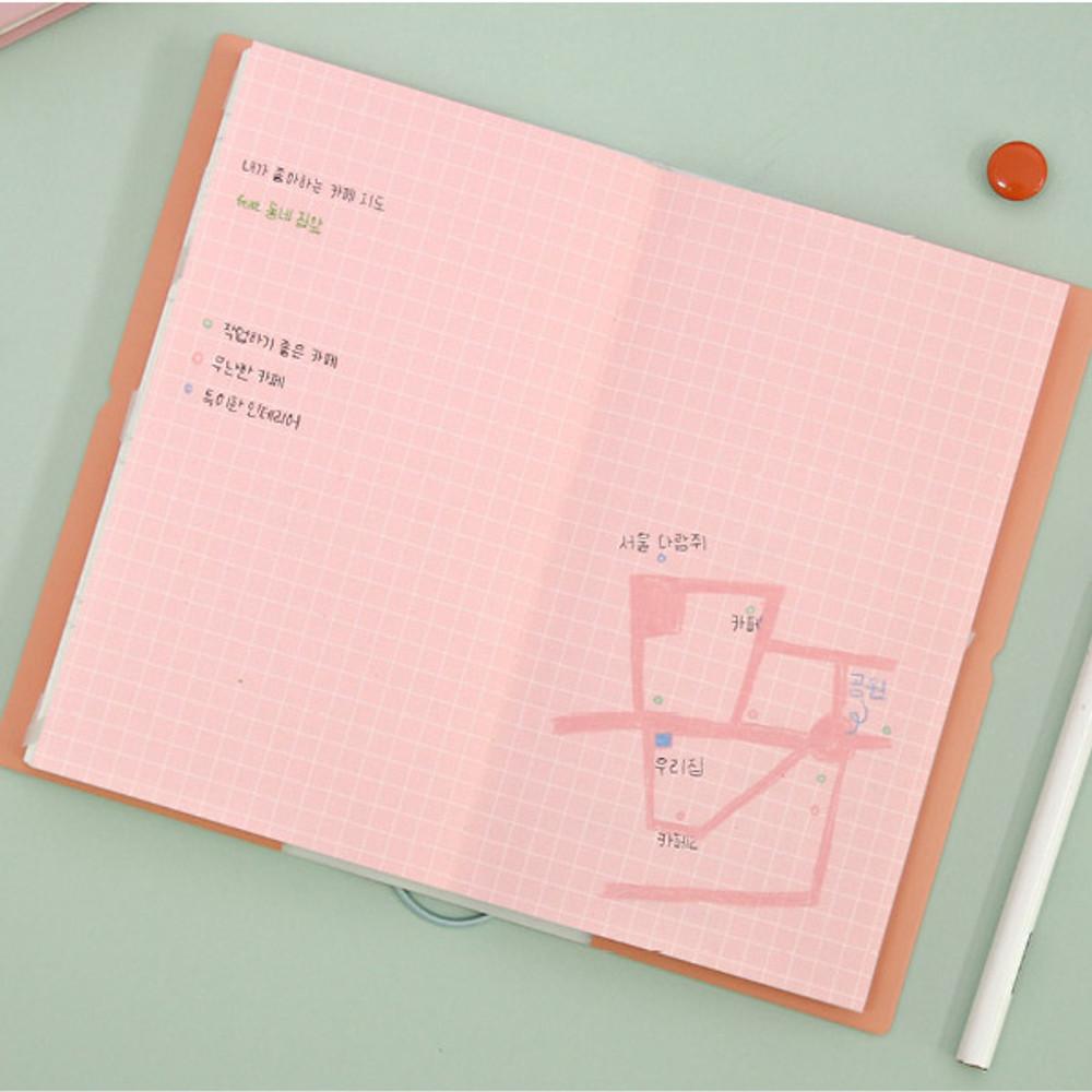 Grid note - Dear moonlight dateless weekly diary