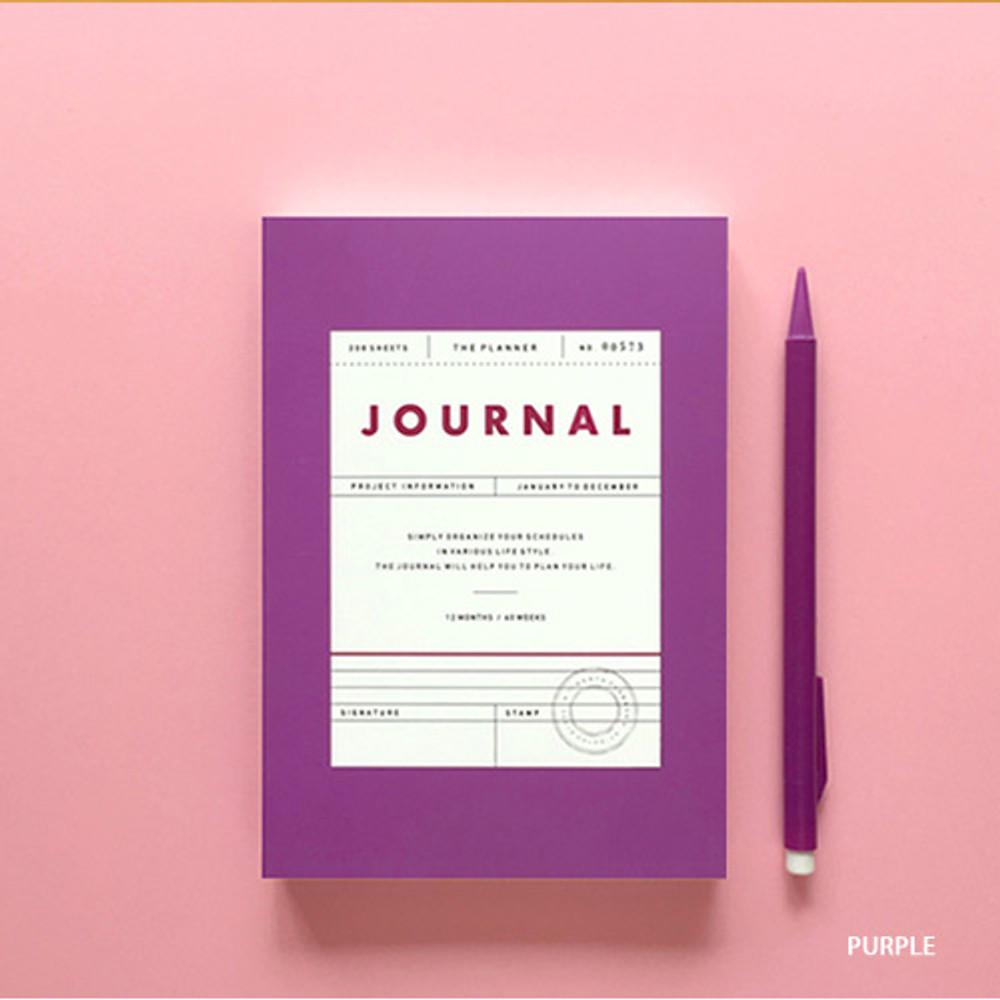 Purple - Vintage new color dateless weekly journal planner