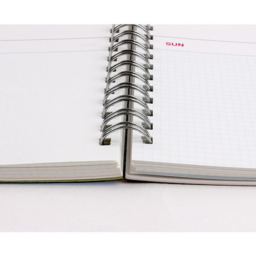 Wire-bound - Wanna This Clear undated weekly planner