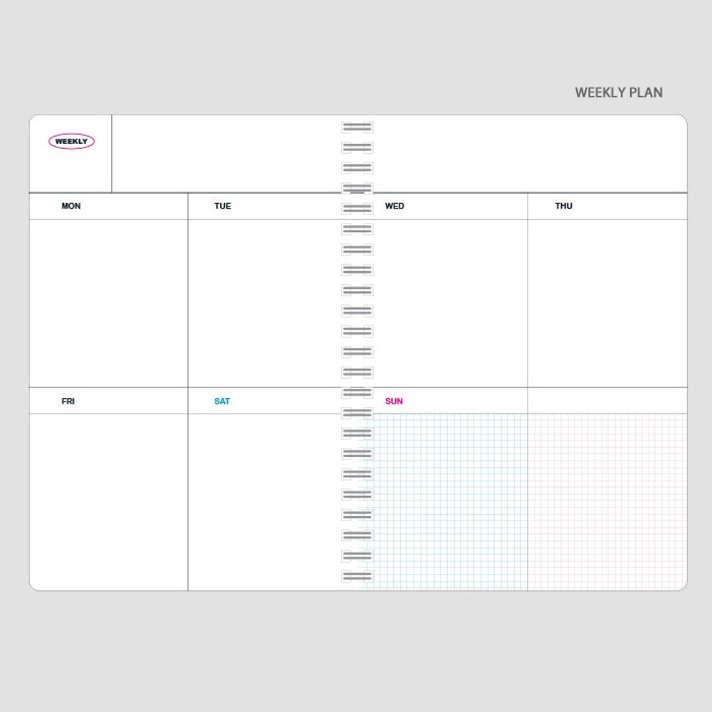 Weekly plan - Wanna This Clear undated weekly planner