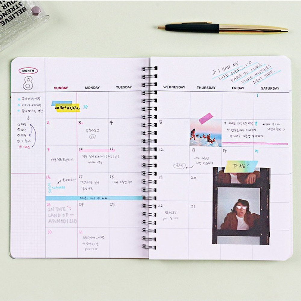 Monthly plan - Wanna This Clear undated weekly planner