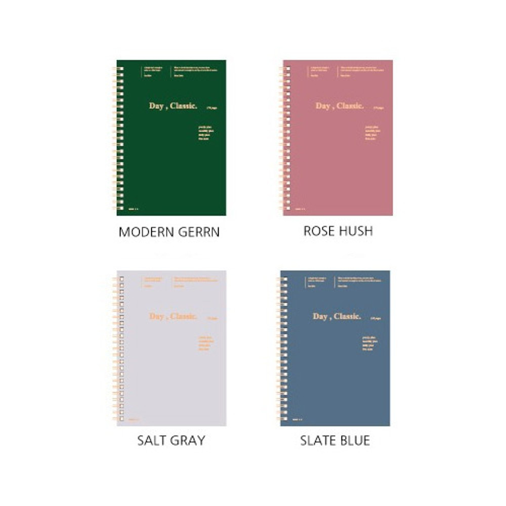 Color - Wanna This Classic wire bound dateless daily agenda scheduler