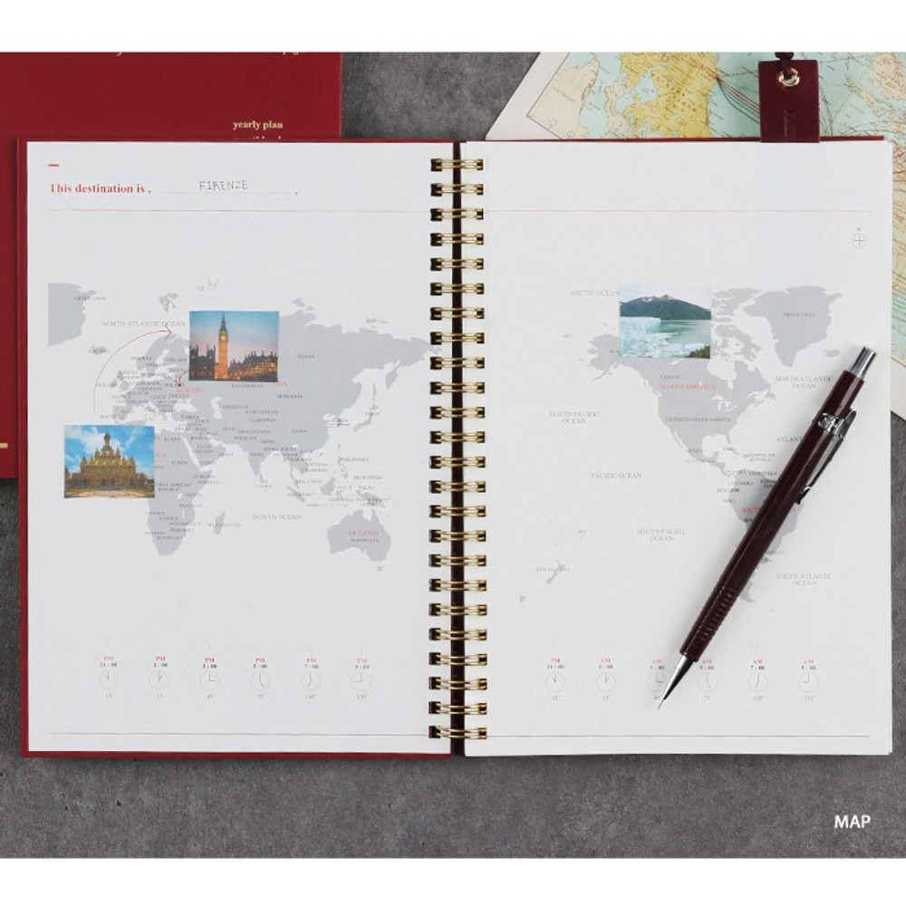 Map - Wanna This Classic wire bound dateless daily scheduler