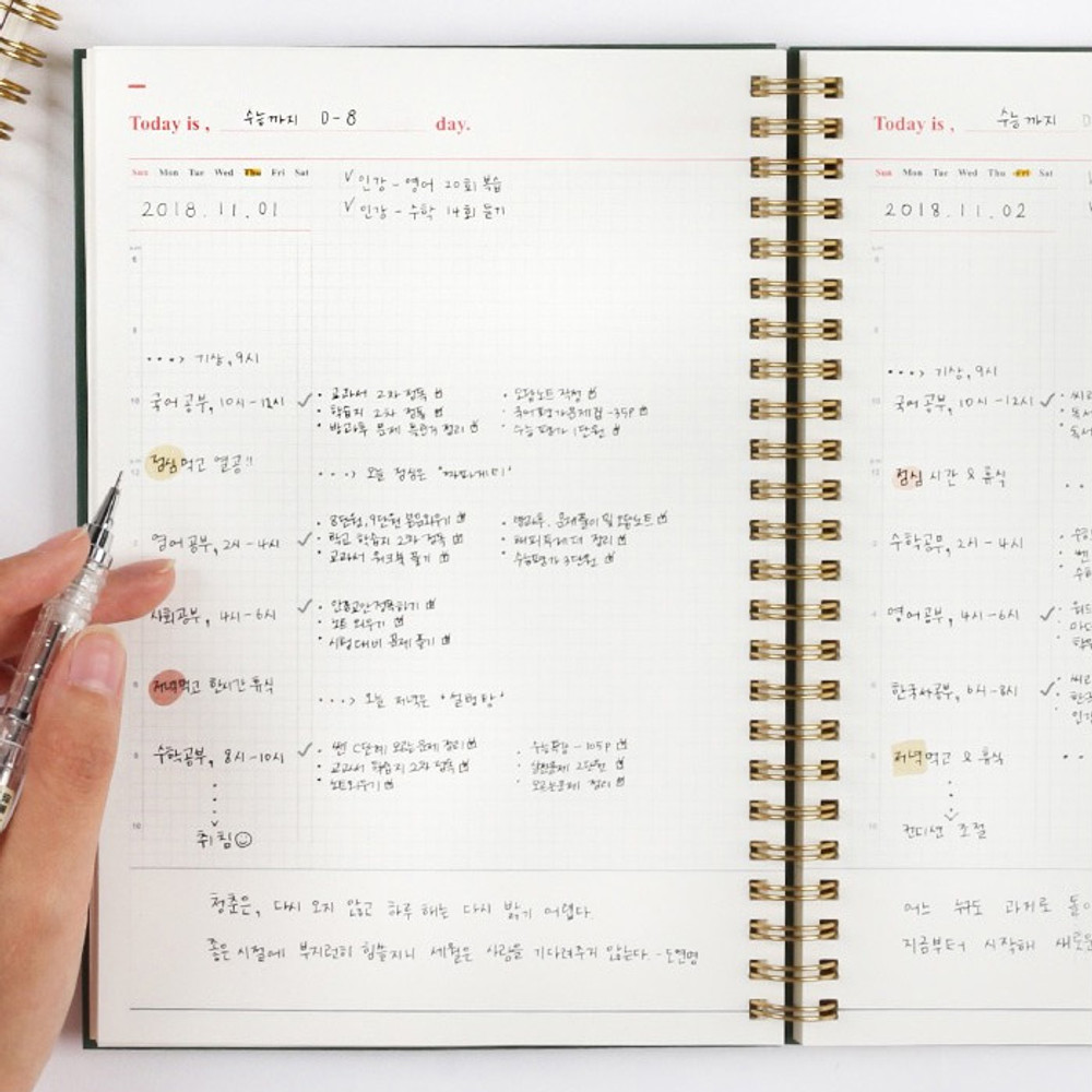 Daily plan - Wanna This Classic wire bound dateless daily scheduler