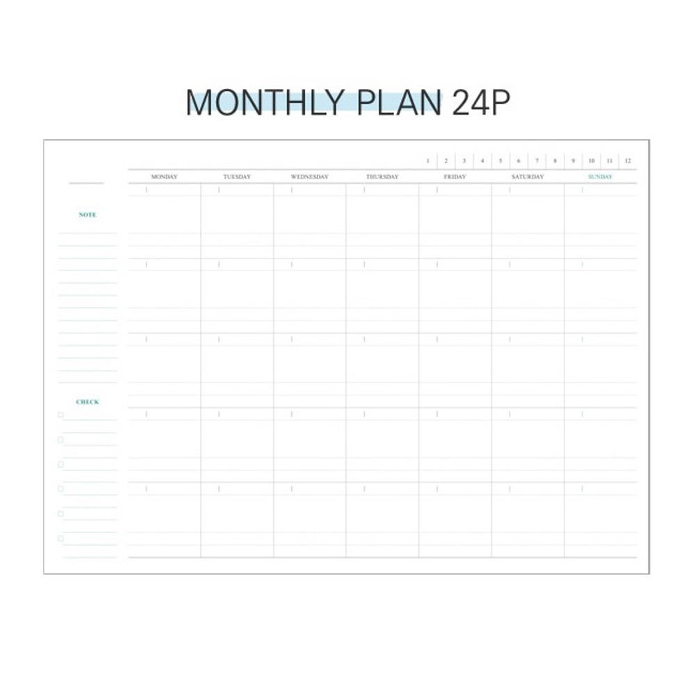 Monthly plan - Second Mansion Perfume dateless weekly diary planner