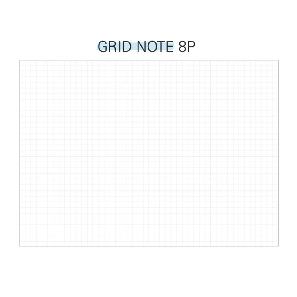 Grid note - Second Mansion Perfume dateless weekly diary planner