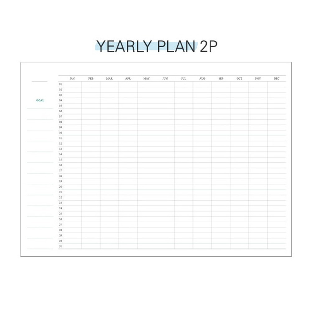 Yearly plan - Second Mansion Perfume dateless weekly diary planner